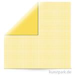 Kariert - Scrapbookingpapier, 190 g 30,5 x 30,5 cm | Sonnengelb