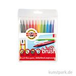 Koh-I-Noor Brush Pen, 12 Stifte im Etui
