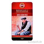 Koh-I-Noor MONDELUZ Aquarellstifte, 12 Stifte im Metalletui