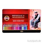 Koh-I-Noor MONDELUZ Aquarellstifte, 36 Stifte im Metalletui
