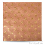 Kraft - Scrapbookingpapier, 180 g 30,5 x 30,5 cm | Punkte gold