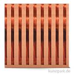 Kraft - Scrapbookingpapier, 180 g 30,5 x 30,5 cm | Streifen kupfer