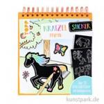 Kratzel-Stickerbuch - Pferde, TOPP