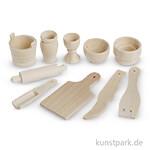 Küchenutensilien aus Holz, 40-60 mm, 10 Stück sortiert