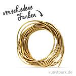 Kunstlederband Metallic flach 3 mm, 2 m