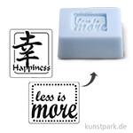 Seifenstempel - Happiness + less is more - 25x30 mm, 2 Stück