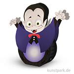 Laternen-Bastelset rund - Vampir mit umfangreichem Zubehör