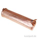 Leder-Etui Metallic - Rund, Kupfer