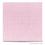 Leinenstruktur - Scrapbookingpapier, 216 g 30,5 x 30,5 cm | Pastellrosa