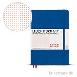 Leuchtturm Notizbuch Hardcover - Königsblau - Red Dotted, Medium A5, 249 Seiten