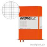 Leuchtturm Notizbuch Hardcover - Orange - Kariert