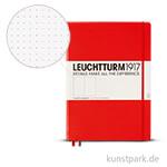 Leuchtturm Notizbuch Hardcover - Rot - Dotted