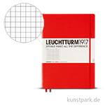 Leuchtturm Notizbuch Hardcover - Rot - Kariert