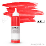 LukasCryl STUDIO Acrylfarbe 250 ml Flasche | 4672 Kadmiumrot hell