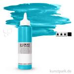LukasCryl STUDIO Acrylfarbe 250 ml Flasche   4724 Türkis