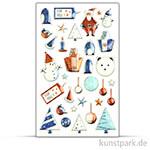 Maildor Cooky Sticker - Weihnachten Blau
