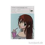 Manga Skizzenblock, 35 Blatt, 170 g DIN A4