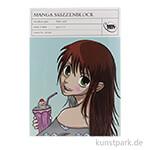 Manga Skizzenblock, 35 Blatt, 170 g