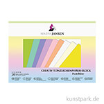 Marpa Jansen Tonzeichenpapier, 10 Pastelltöne 24x34 cm 20 Blatt