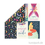 Mermaid Dreams Scrappapier - 4x6 Journaling Cards