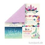 Mermaid Dreams Scrappapier - 6x4 Journaling Cards