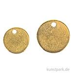 Metall-Anhänger - Scheiben, Gold, 6 Stück, 2 Größen