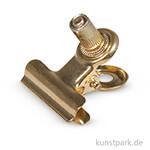 Metall-Clip mit Schraube - Gold, 3 Stück