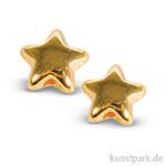 Metall-Perle Stern 5 mm, 6 Stück Gold