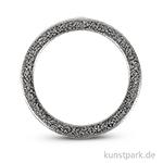 Metall-Schmuckring flach, silber