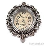 Metall-Uhrwerk Vintage Collection mit Gelenk & Zierrand, 2,5x3,2 cm