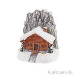 Mini Berghütte mit Glitzer, 4 cm