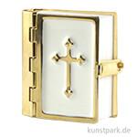 Mini Bibel Weiß-Gold, 3,5 cm