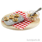 Mini Brett mit Keksen und Teigschüssel, 4,5 cm