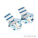 Mini Flip-Flops - blau gestreift, 6 cm