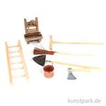 Mini-Gardening Zubehör Set - Haushalt, 13-17 cm