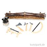 Mini-Gardening Zubehör Set - Holzarbeiten, 12-15 cm