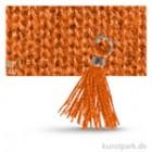 Mini-Quaste mit Öse 15 mm 3 Stk. | Orange