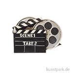 Mini Regieklappe mit Filmrollen, 7 cm