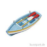 Mini Ruderboot- Blau, 10x3,5x1,8 cm