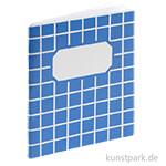 Mini Schulheftchen Blau, 4 cm