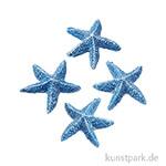 Mini Seestern - 2 cm, 4 Stück Blau
