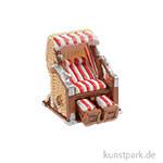 Mini Strandkorb - Rot-Weiß, 3,5x3,5 cm
