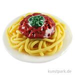 Mini Teller mit Spagetti, 2,7 x 1 cm