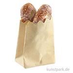 Mini Tüte mit Brot, 4 x 1 x 2 cm