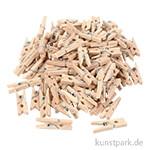 Mini-Wäscheklammern aus Holz, 25x3 mm, 100 Stück