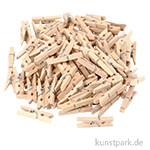 Mini-Wäscheklammern aus Holz, 30x3 mm, 100 Stück