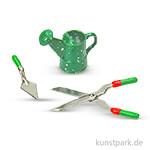 Miniatur-Gartenwerkzeuge, 3 Stück sortiert