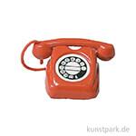 Miniatur Telefon - rot, 3,5 cm