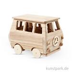 Minibus aus Holz, 17x10x13 cm