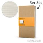 MOLESKINE Cahier Journal 3er-Set - Kraftpapier - Liniert